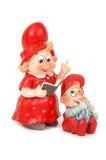 Maman et fils de Santa Photo libre de droits