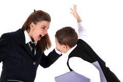 Maman et fils (ou professeur et garçon) Photographie stock libre de droits
