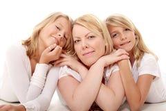 Maman et ses filles Image libre de droits