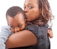 Maman et son fils Photos stock