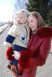 Maman et sonny Photographie stock libre de droits