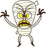 Maman fâchée de Halloween étant effrayante Image libre de droits