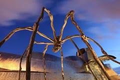 Maman - gigantyczna pająk rzeźba w Bilbao, Hiszpania Obrazy Stock