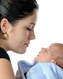Maman neuve avec le fils Image libre de droits