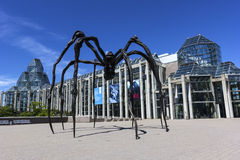 Maman sculpture in front of National Gallery in Ottawa, Canada Royalty Free Stock Photo