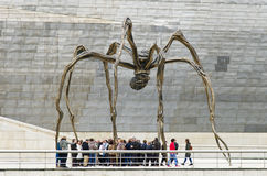 Maman sculpture, by Louise Bourgeois, Guggenheim Museum, Bilbao. Bilbao, Spain - March 28, 2016: Maman sculpture, by Louise Bourgeois, Guggenheim Museum, Between Royalty Free Stock Photos