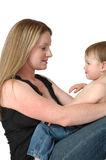 Mamans et chéris Images libres de droits