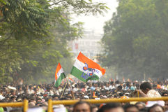 Mamata Banerjee Rally in Kolkata. Royalty Free Stock Photo