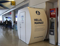 Mamava Suite for nursing mamas is a place for women to pump or breastfeed inside of JetBlue Terminal 5 Stock Photography