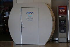 Mamava Suite for nursing mamas is a place for women to pump or breastfeed inside of JetBlue Terminal 5 Stock Image