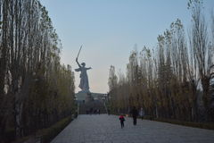 Mamayev Kurgan - мемориальный комплекс Стоковая Фотография