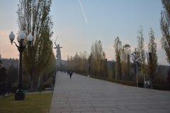 Mamayev Kurgan - мемориальный комплекс Стоковое фото RF