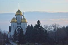 Mamayev Kurgan - мемориальный комплекс Стоковые Изображения RF