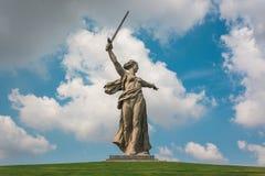 Mamayev kurgan gedenkteken stock foto