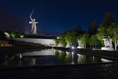 Mamayev Kurgan, Volgograd Stalingrad, Rosja fotografia royalty free