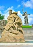Mamayev Kurgan w Volgograd Stalingrad Zespołu ` bohaterzy bitwa Stalingrad ` Widok od strony kwadrat obraz stock