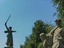 Mamayev Kurgan w Volgograd Stalingrad Zespo?u ` bohaterzy bitwa Stalingrad ` Rzeźba «kraj ojczysty « zdjęcia royalty free