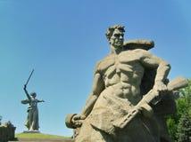 Mamayev Kurgan w Volgograd Stalingrad Zespo?u ` bohaterzy bitwa Stalingrad ` Widok od strony kwadrat zdjęcia stock