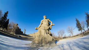 Mamayev kurgan, the Winner statue Royalty Free Stock Photography