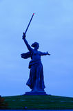 The Mamayev monument in Volgograd. The Mamayev (Motherland Calls) monument in Volgograd, Russia, at night royalty free stock image