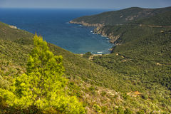 Mamba Beach Ampelos, Chalkidiki,  Sithonia, Central Macedonia Royalty Free Stock Photography