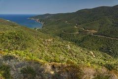 Mamba Wyrzucać na brzeg Ampelos, Chalkidiki, Sithonia, Środkowy Macedonia Obraz Royalty Free