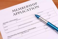 Mambership Application Royalty Free Stock Photos