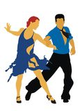 Mambo. Man and woman dancing mambo Royalty Free Stock Image