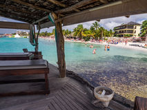 Mambo beach - massage beds Royalty Free Stock Images
