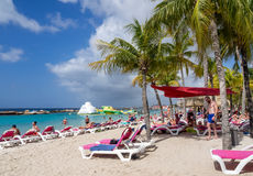 Mambo beach - sun loungers Stock Image