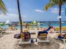 Mambo beach - sun loungers Stock Photos