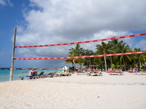 Mambo beach - volley ball net Royalty Free Stock Photos