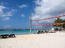 Mambo beach - volley ball net Royalty Free Stock Photo