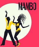 Mambo dancers card Royalty Free Stock Photography