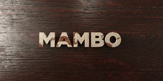 Mambo - grungy wooden headline on Maple  - 3D rendered royalty free stock image. This image can be used for an online website banner ad or a print postcard Royalty Free Stock Images