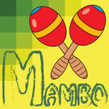 Mambo. Illustration of two red maracas Royalty Free Stock Images