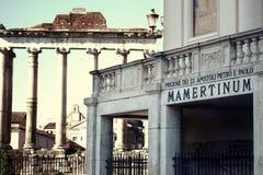 Mamertine więzienie w Rzym, Włochy Zdjęcia Royalty Free