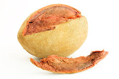 Mamey fruit. A tropical  fruit called mamey Stock Photography