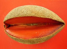 Mamey sapote fruit on orange Stock Photo