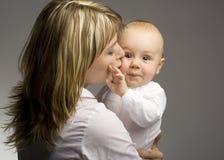 Mami con el niño Foto de archivo