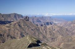 Mamie Canaria, caldeira De Tejeda Images libres de droits