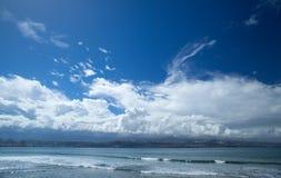 Mamie Canaria, plage d'EL Confital au bord de Las Palmas Images libres de droits