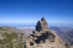 Mamie Canaria, vue de Pico de Las Nieves Images stock