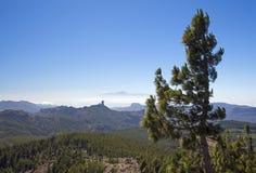 Mamie Canaria, vue de Pico de Las Nieves Photos stock