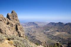 Mamie Canaria, vue de Pico de Las Nieves Photo libre de droits