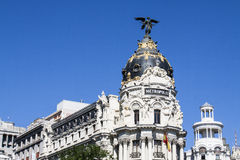 Mamie par l'intermédiaire des bâtiments, Madrid Photo libre de droits