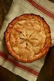 Mamie Smith Apple Pie Overhead View Photographie stock