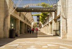 Mamilla centrum handlowe, Alrov Mamilla aleja w Jerozolima, Izrael zdjęcia stock