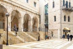 Mamilla centrum handlowe lub Alrov Mamilla aleja, robi zakupy ulicę w Jerozolima obraz stock