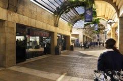 Mamilla centrum handlowe w Jerozolima, Izrael Zdjęcia Stock